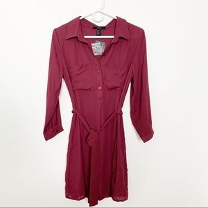NWT Forever 21 Tunic Shirt Dress S #2092